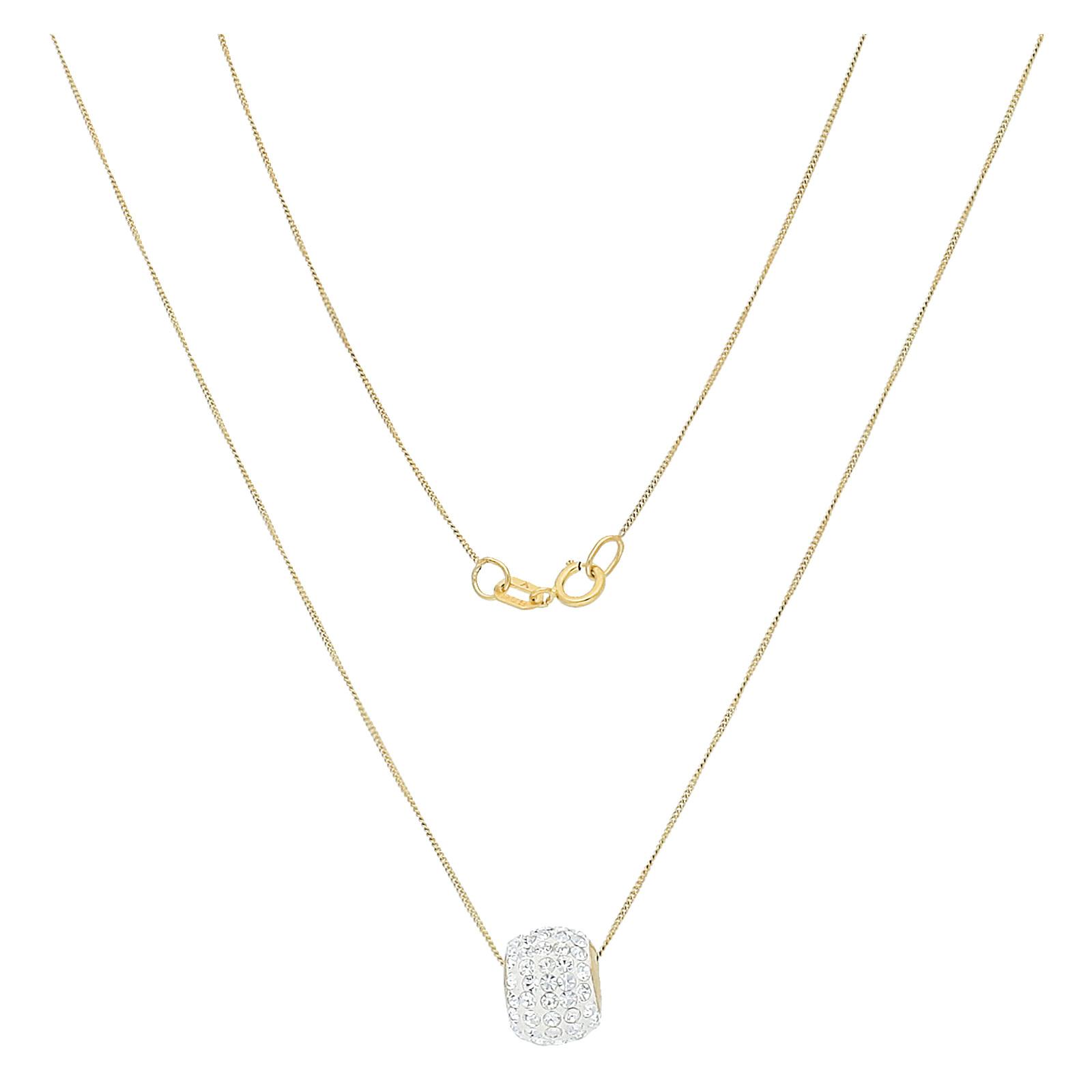 Goldkette 43cm Swarovski Elements-Anhänger