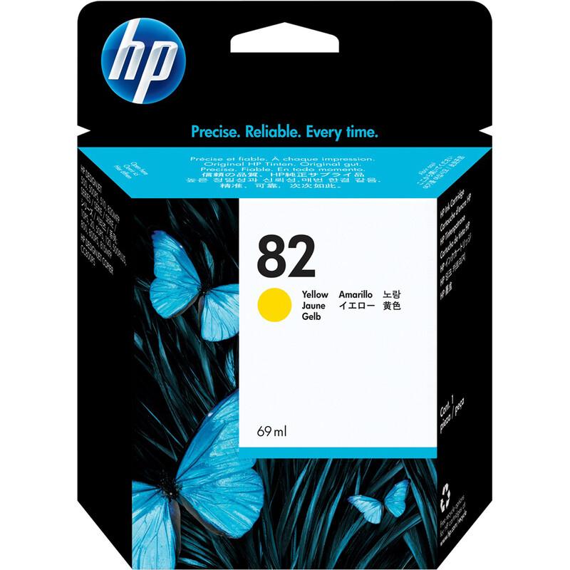 HP 82 C4913A Tinte yellow 69ml