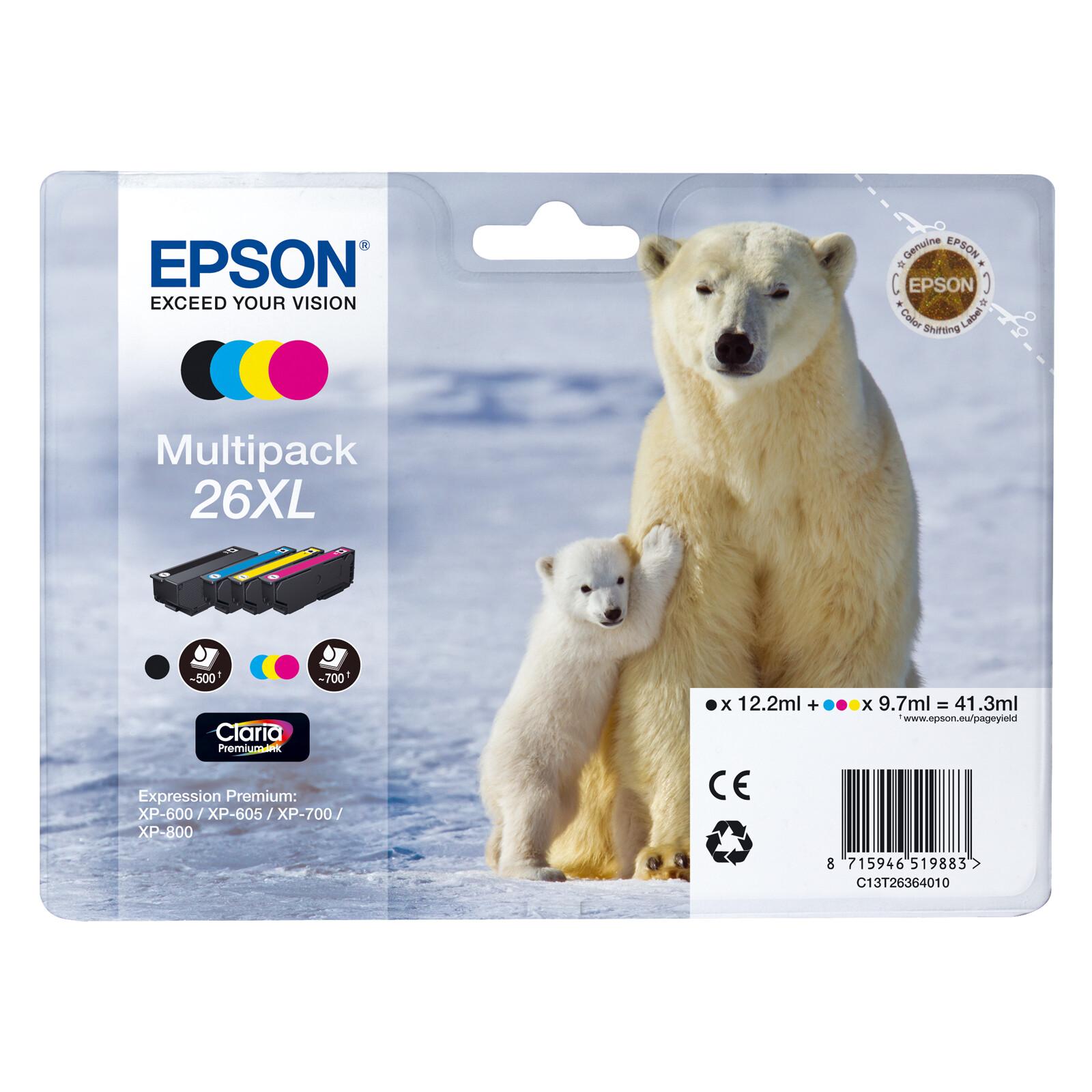 Epson 26XL T2636 Tinte Multipack