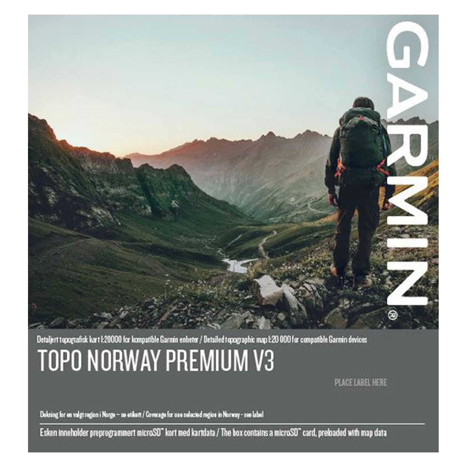 Garmin Topo TOPO Norway Premium v3, 7 Nordland Sor mSD/SD