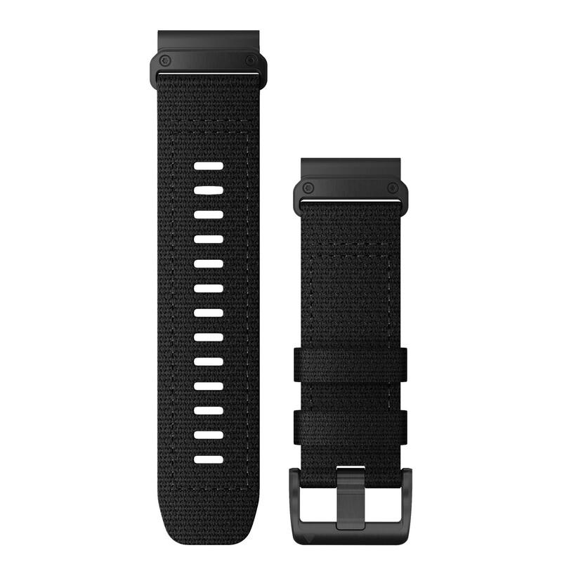 Garmin Quickfit Band 26mm Nylon schwarz schwarz