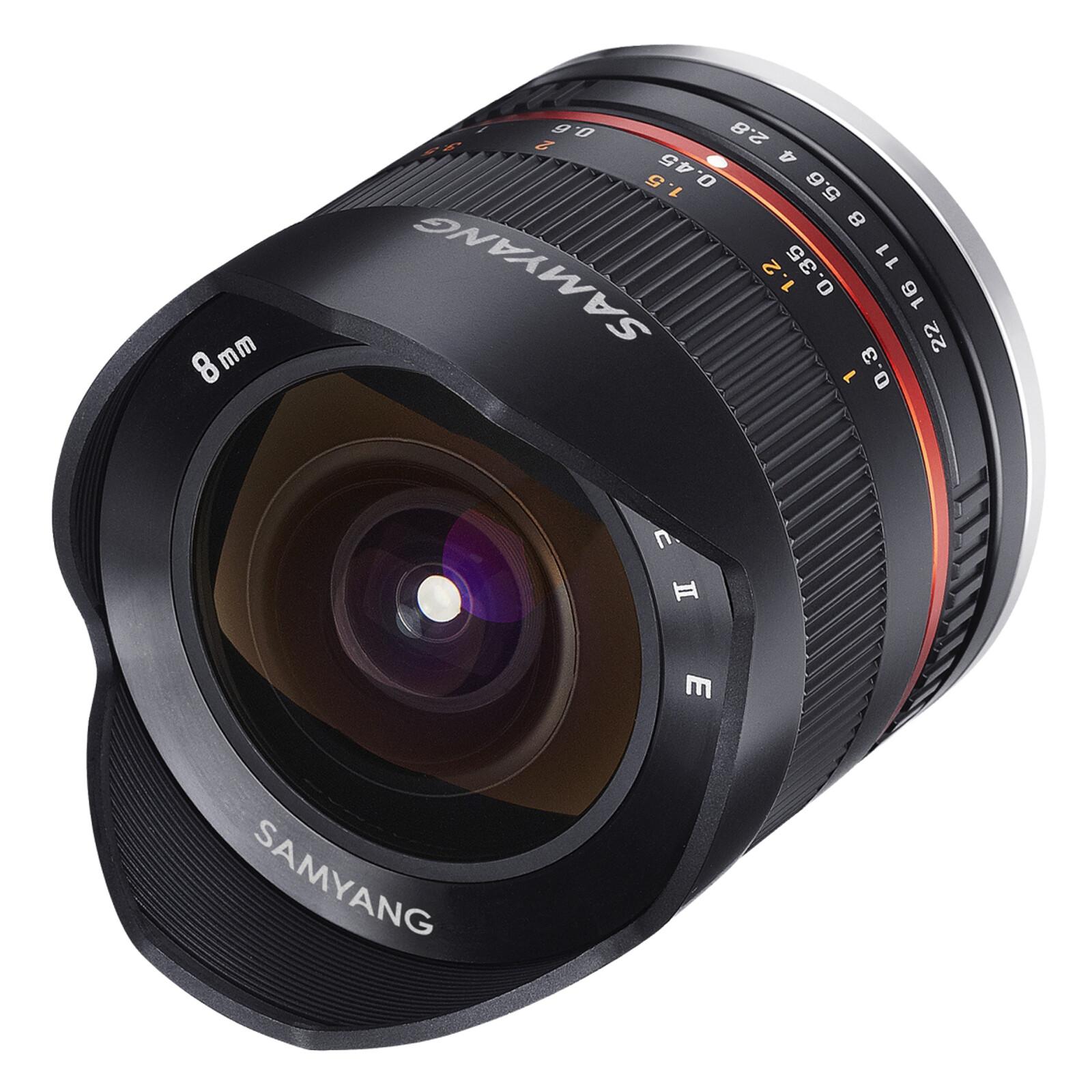 Samyang 8/2,8 Fisheye II APS-C Canon M Schwarz