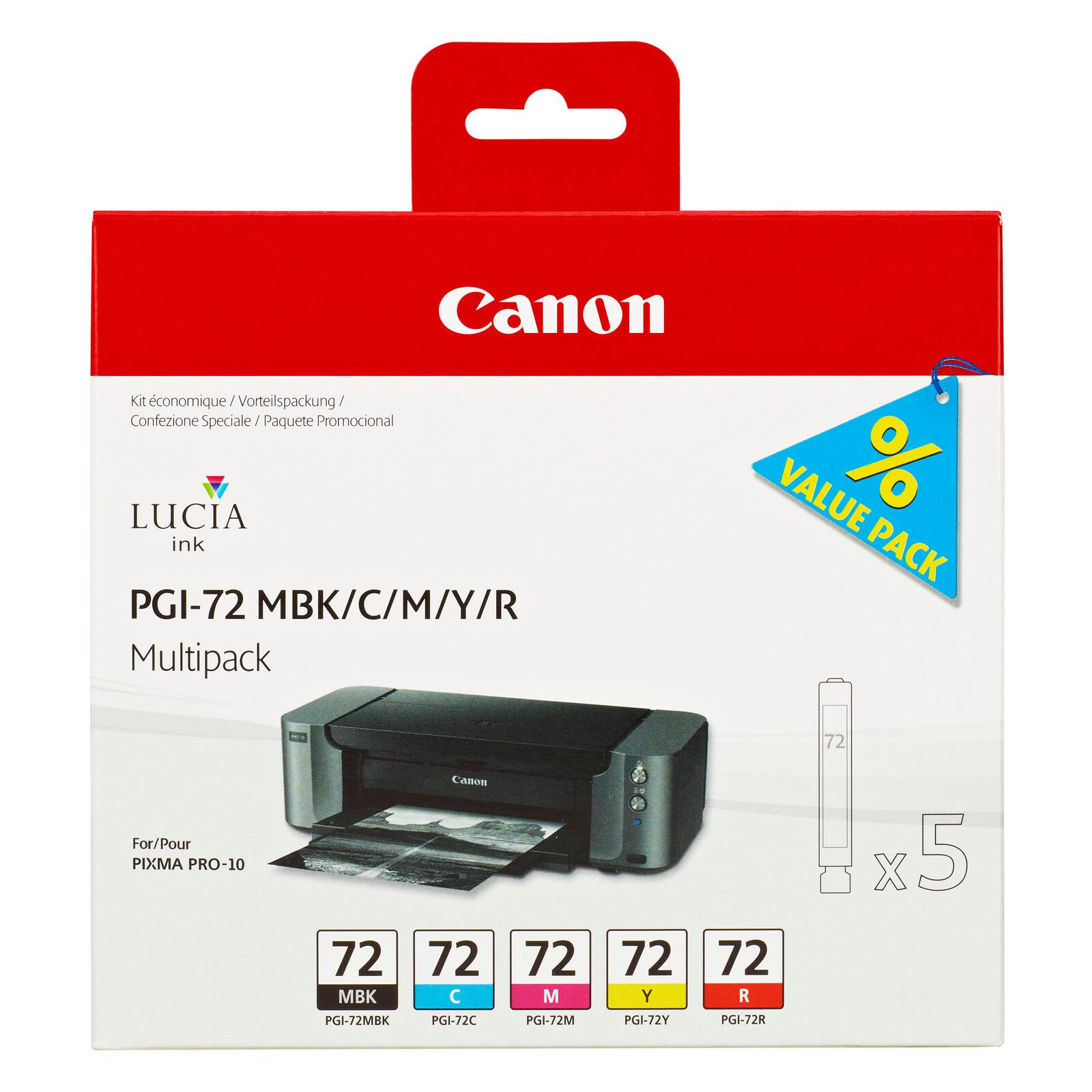 Canon PGI 72 Multi Pack MBK/C/M/Y/R