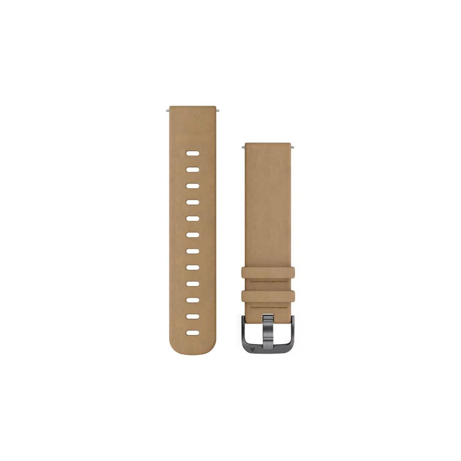 Garmin Uhrenarmband Vivomove 20mm Leder Schiefer
