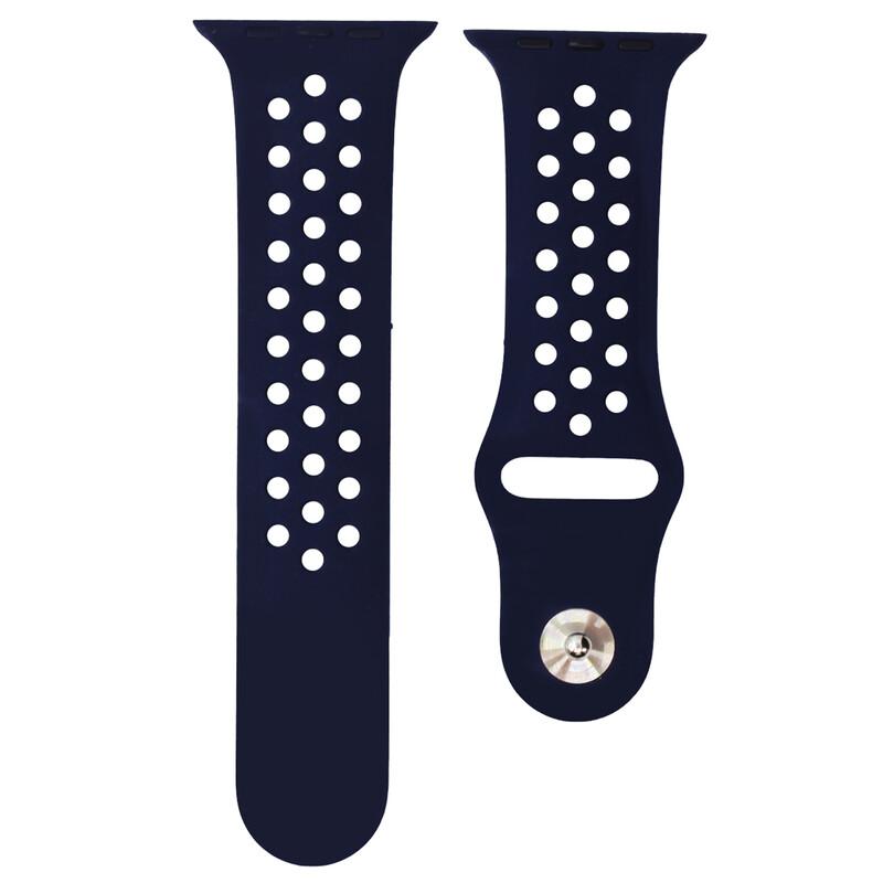 Mika Uhrenarmband Apple 42/44mm Silikon dunkelblau