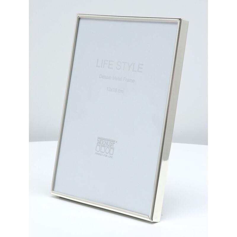 Deknudt Metallrahmen 10x15 silber glänzend