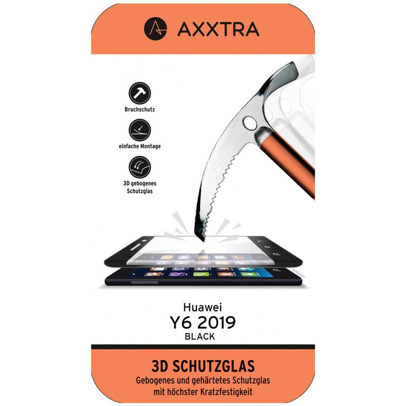 Axxtra Glas Full Huawei Y6 2019 schwarz