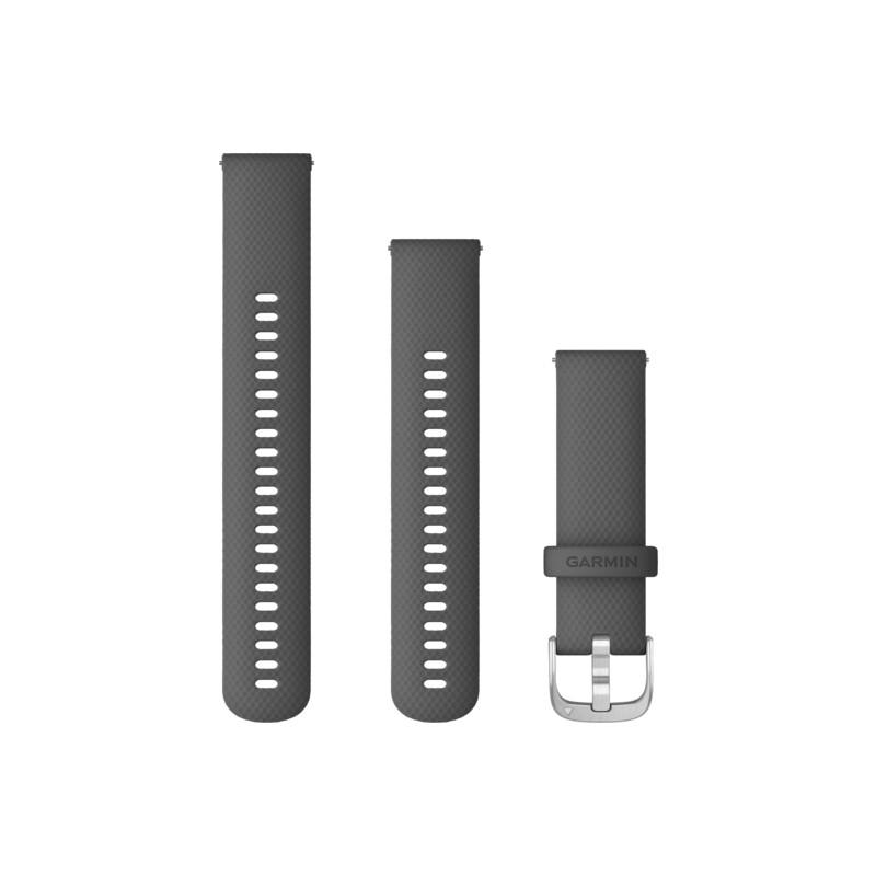 Garmin Band 22mm Silikon grau silber