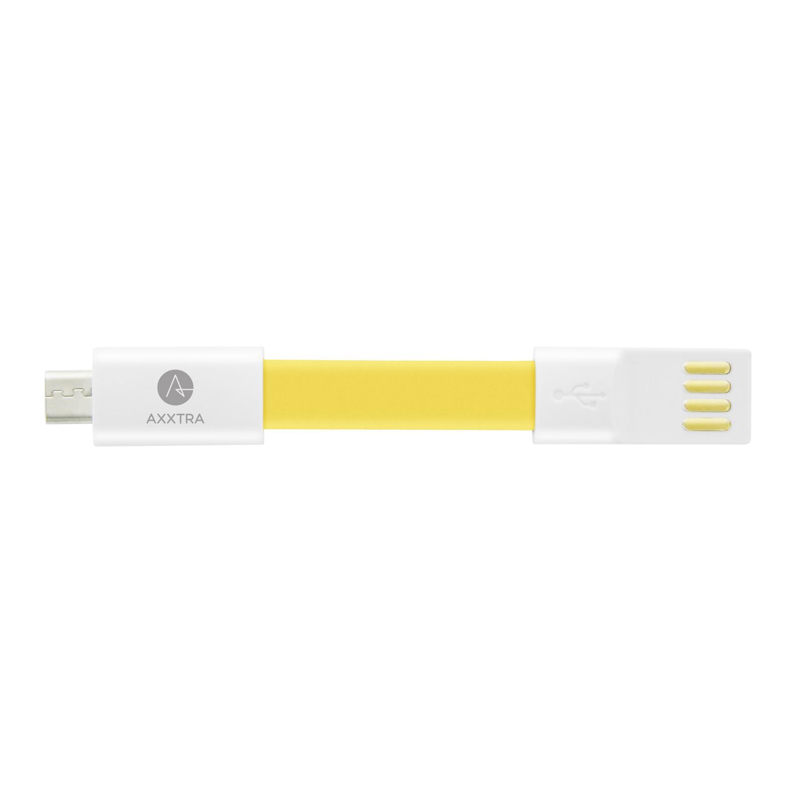 Axxtra Data Keyholder Micro-USB gelb