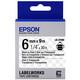 Epson S652004 Beschriftungsband 6mm Black/transparent
