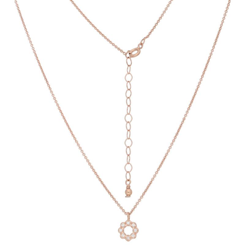 Halskette Flower rosevergoldet echt Silber