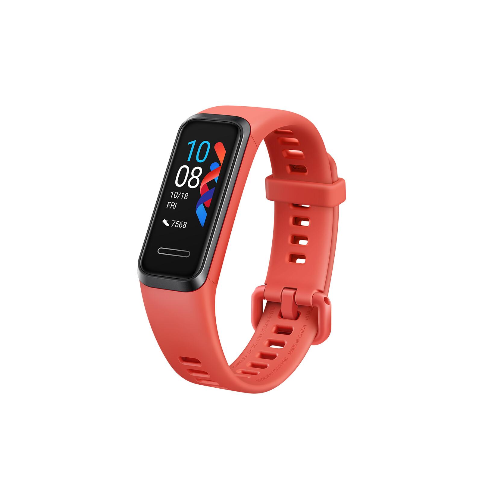 Huawei Band 4 amber sunrise Rot