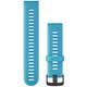 Garmin Band 22mm Silikon blau schiefergrau