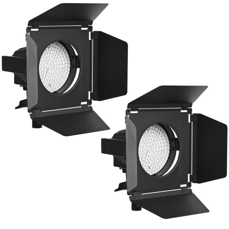 walimex pro 2er Set LED Spotlight + Abschirmklapp.