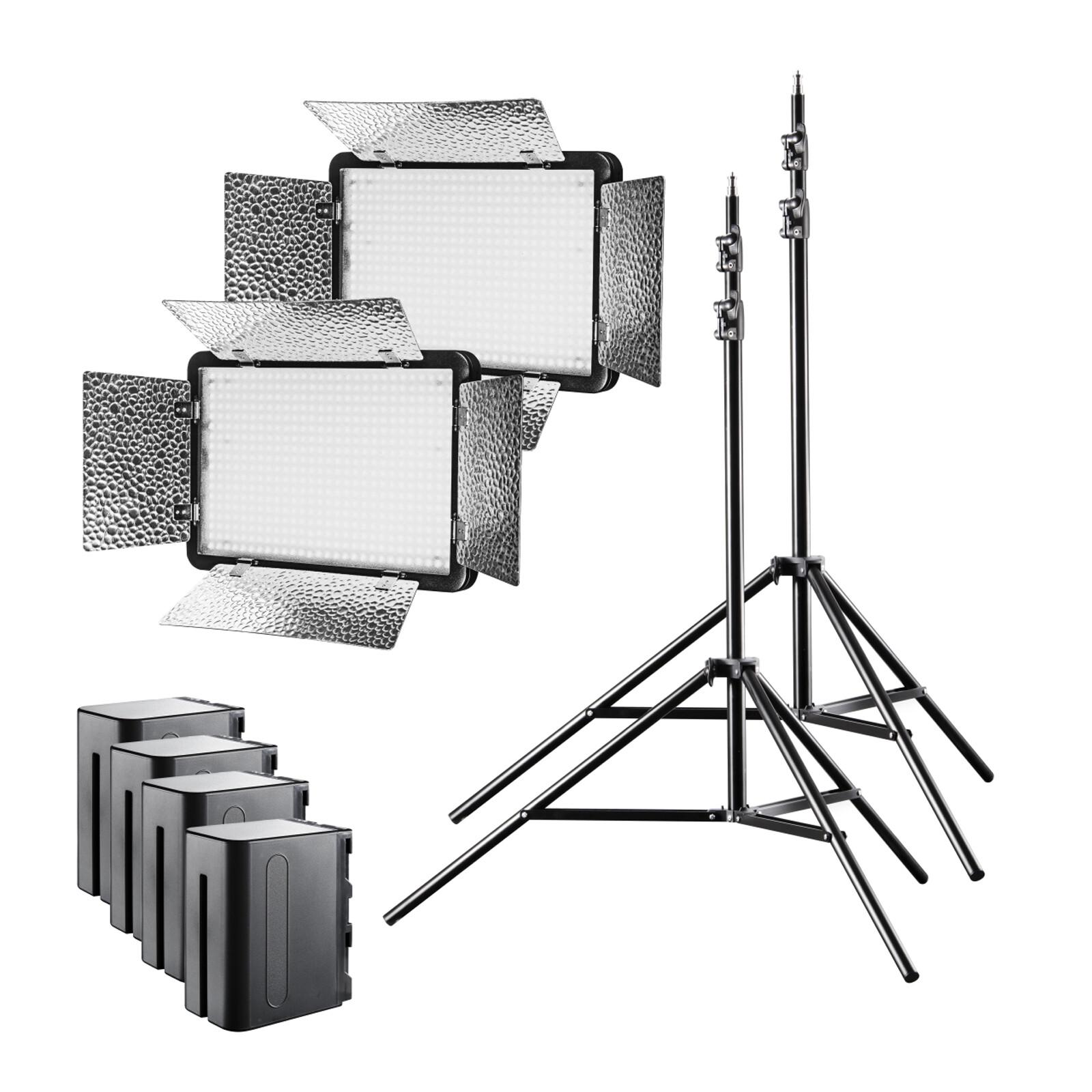 walimex pro LED 500 Versalight Bi Color Set2 Akku