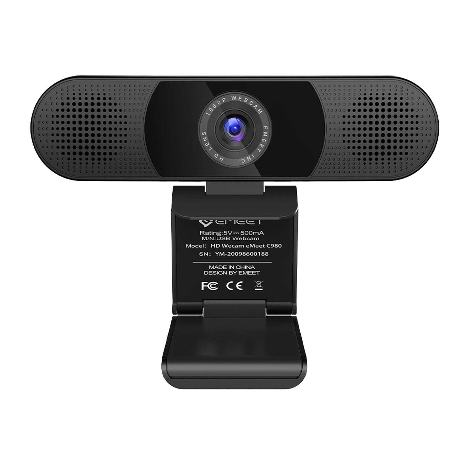 eMeet C980 Pro FHD Webcam mit 4 AI Mikrofone