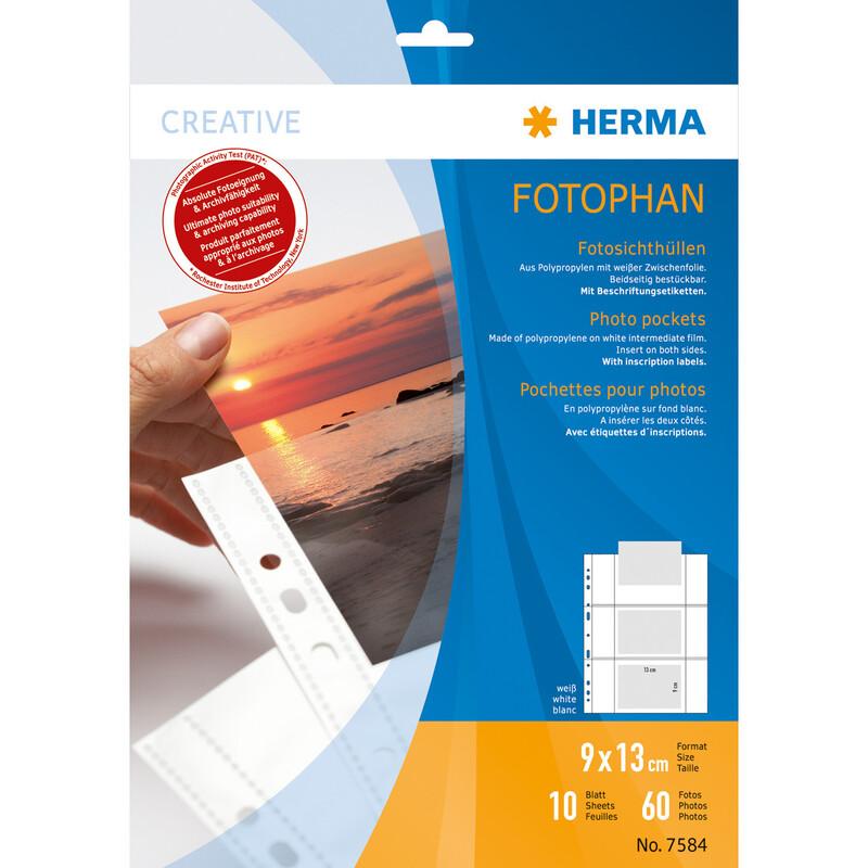 Herma 7584 Fotosichthüllen 9x13