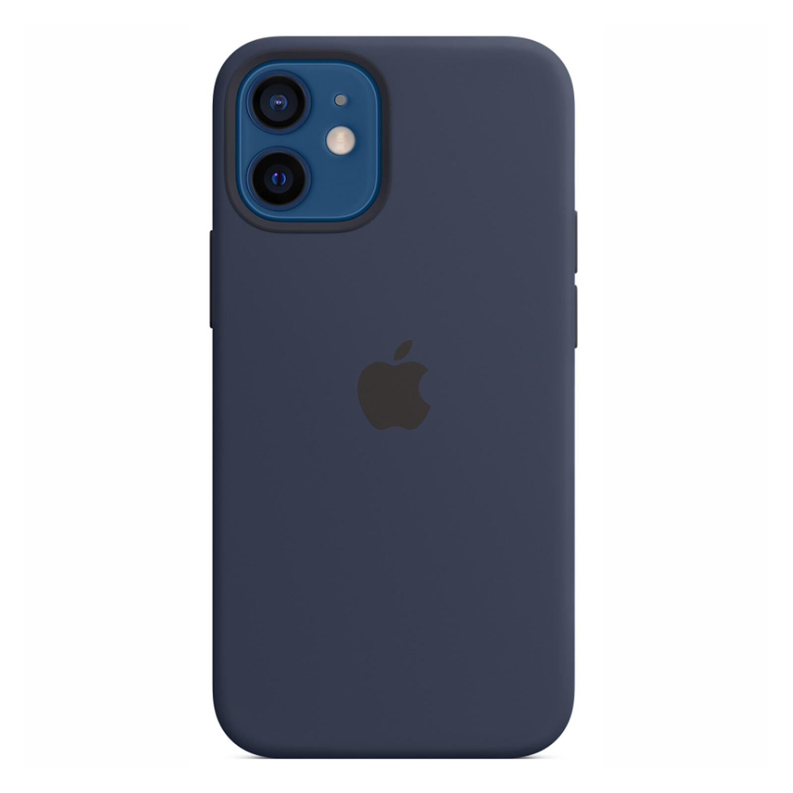 Apple iPhone 12 mini Silikon Case mit MagSafe dunkelmarine