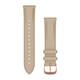 Garmin Uhrenarmband Vivomove 20mm Leder Beige