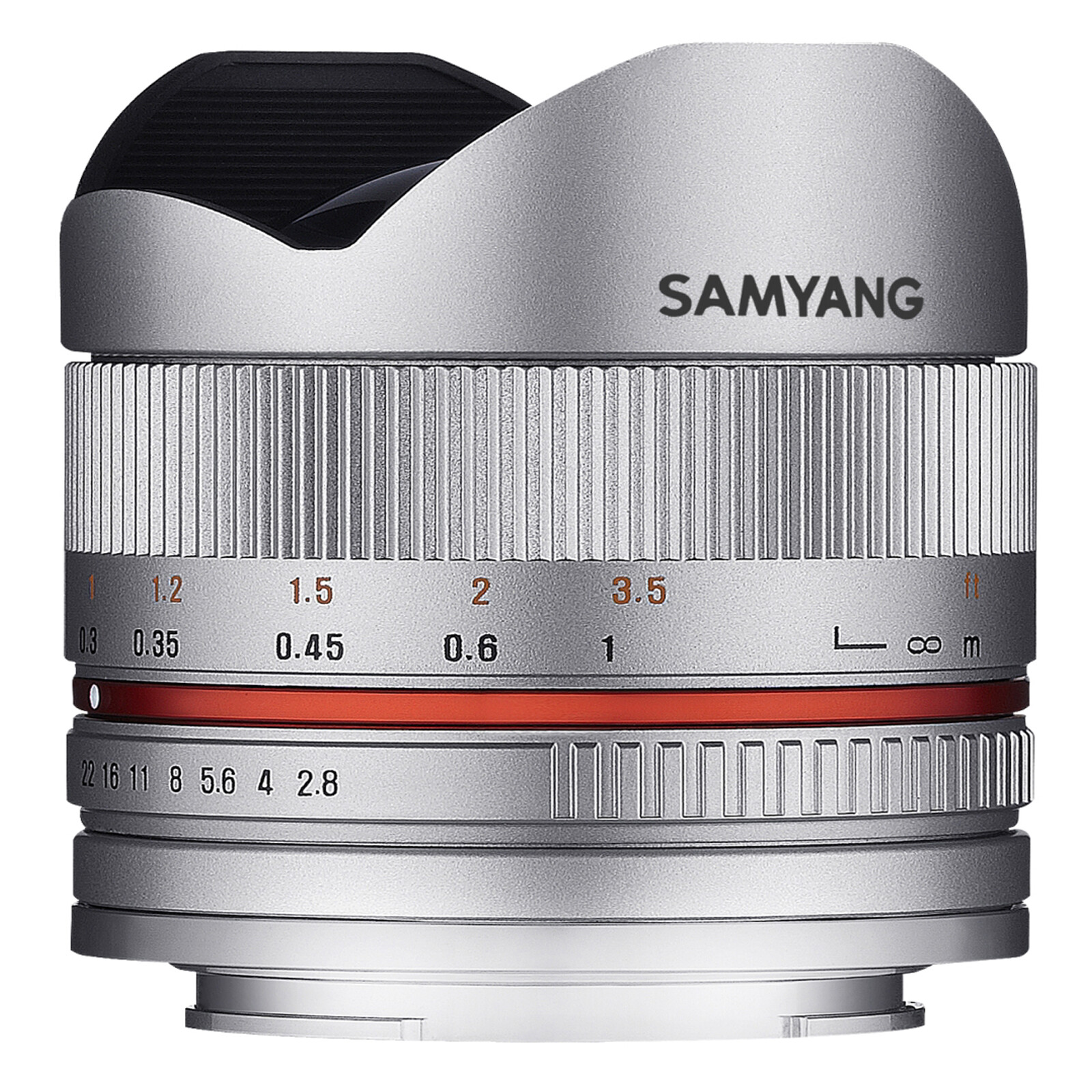 Samyang 8/2,8 Fisheye II APS-C Sony E Silber