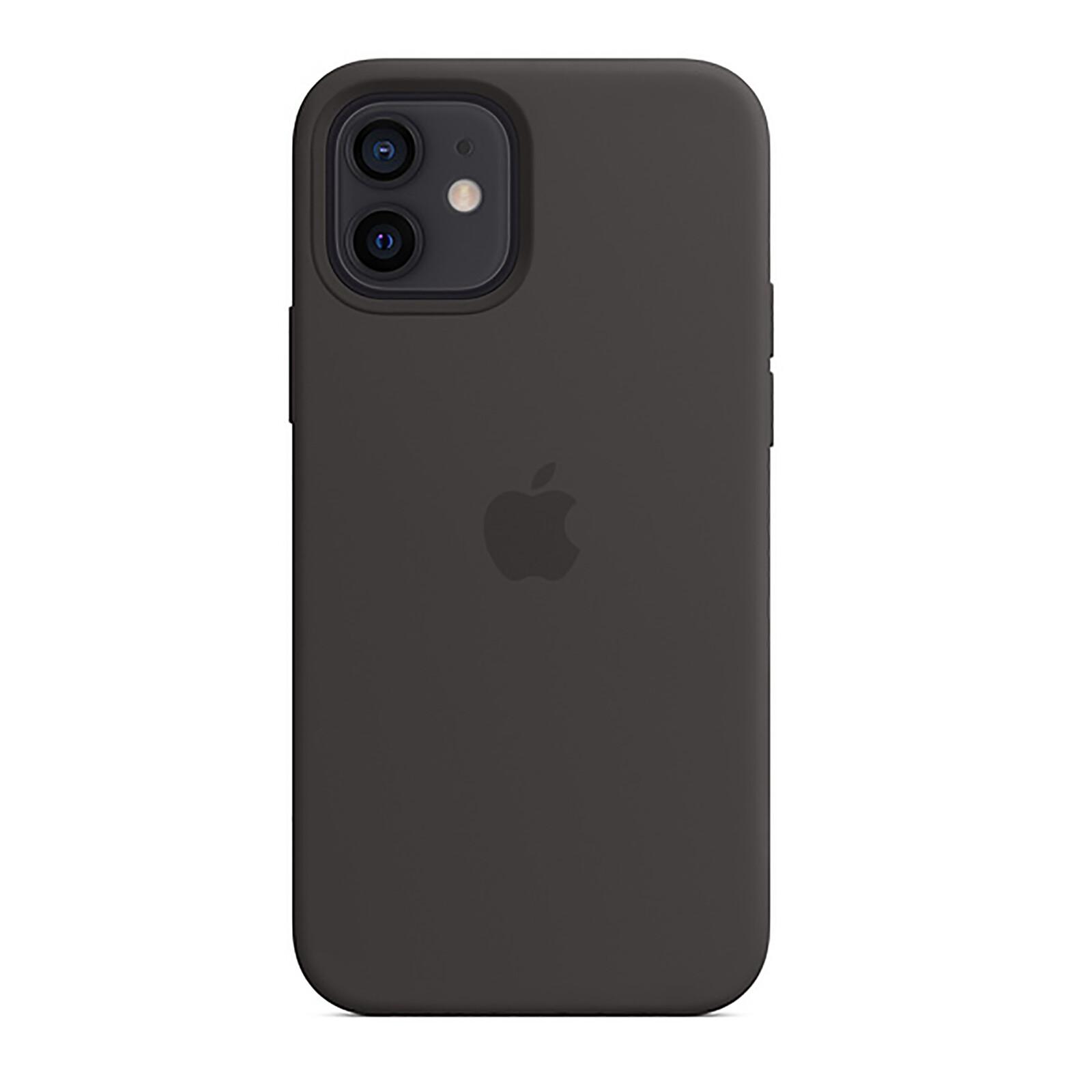 Apple iPhone 12/12 Pro Silikon Case mit MagSafe schwarz