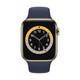 Apple Watch S6 GPS+Cellular Edelstahl gold 44mm dunkelmarine