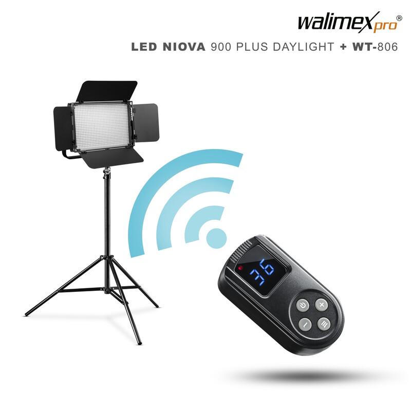 Walimex pro LED Niova 900 Daylight Set mit  WT-806 Stativ