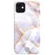 IOMI Back Design Apple iPhone 11 marble purple / white