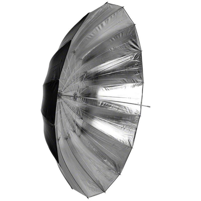 Walimex Pro Reflexschirm schwarz/silber, 180cm