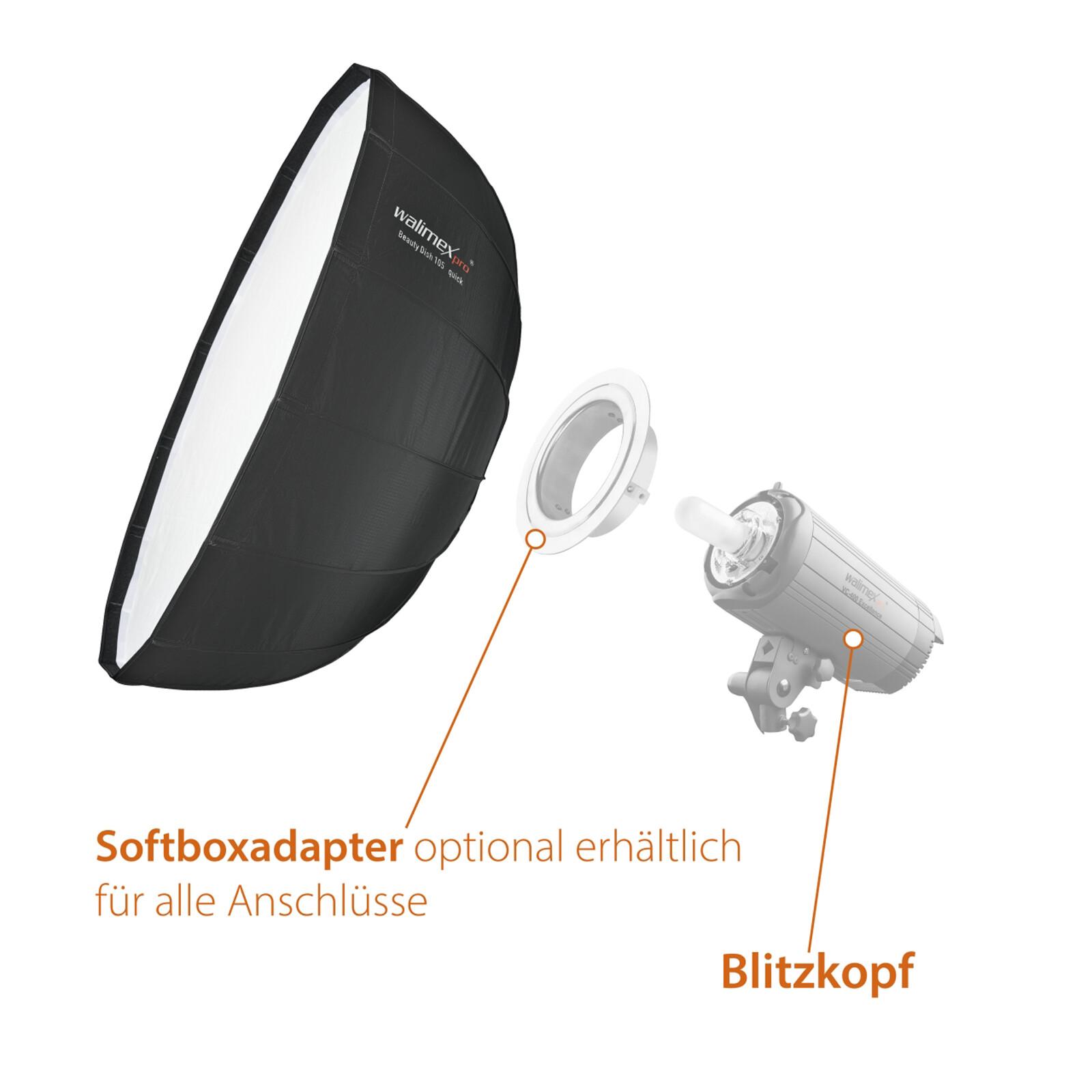Walimex pro Studio Line Beauty Dish Softbox QA105