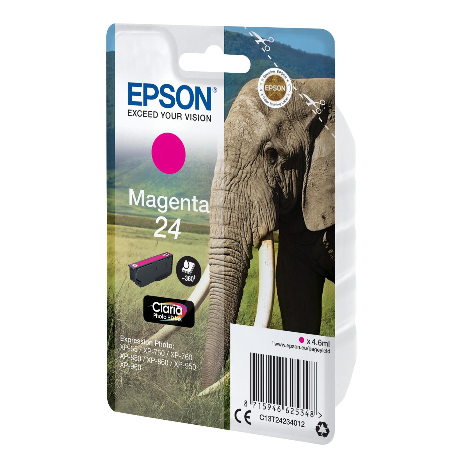 Epson 24 T2423 Tinte Photo Magenta 4,6ml