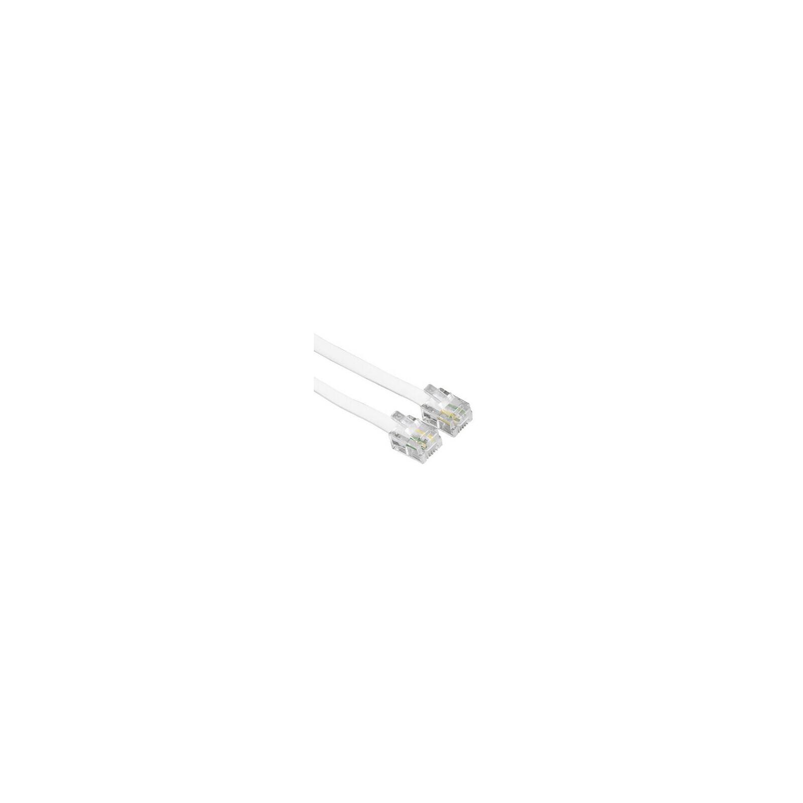Hama 44490 Modularkabel Stecker 6p4c - Stecker 6p4c 6 m weiß