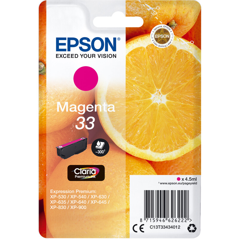 Epson 33 T3343 Tinte Magenta 4,5ml
