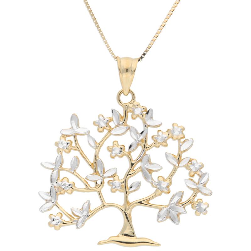 Goldkette 45cm mit Lebensbaum-Anhänger
