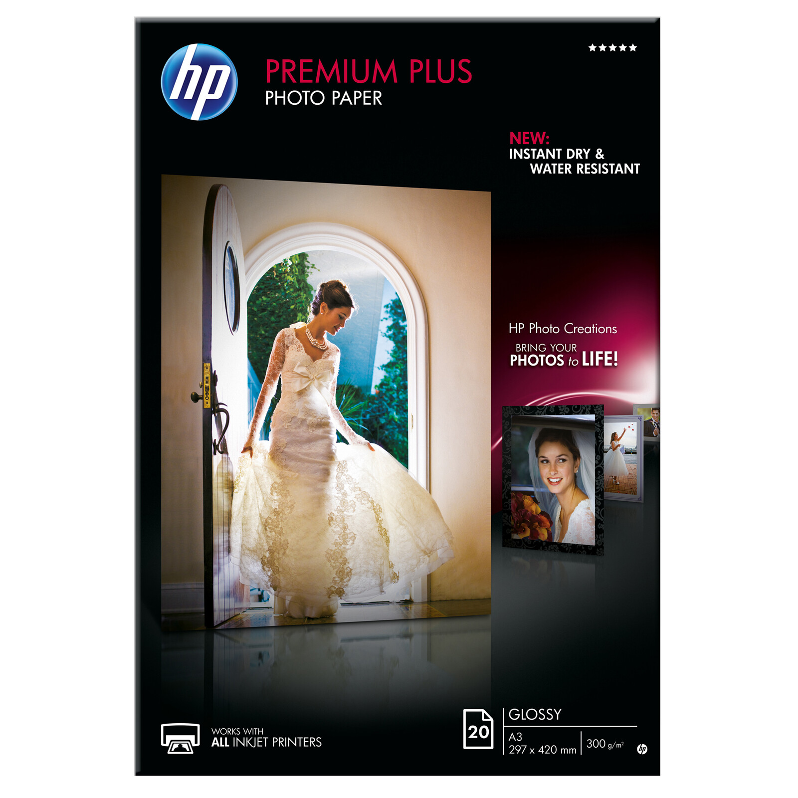 HP CR675A A3 glossy 20 Blatt 300g