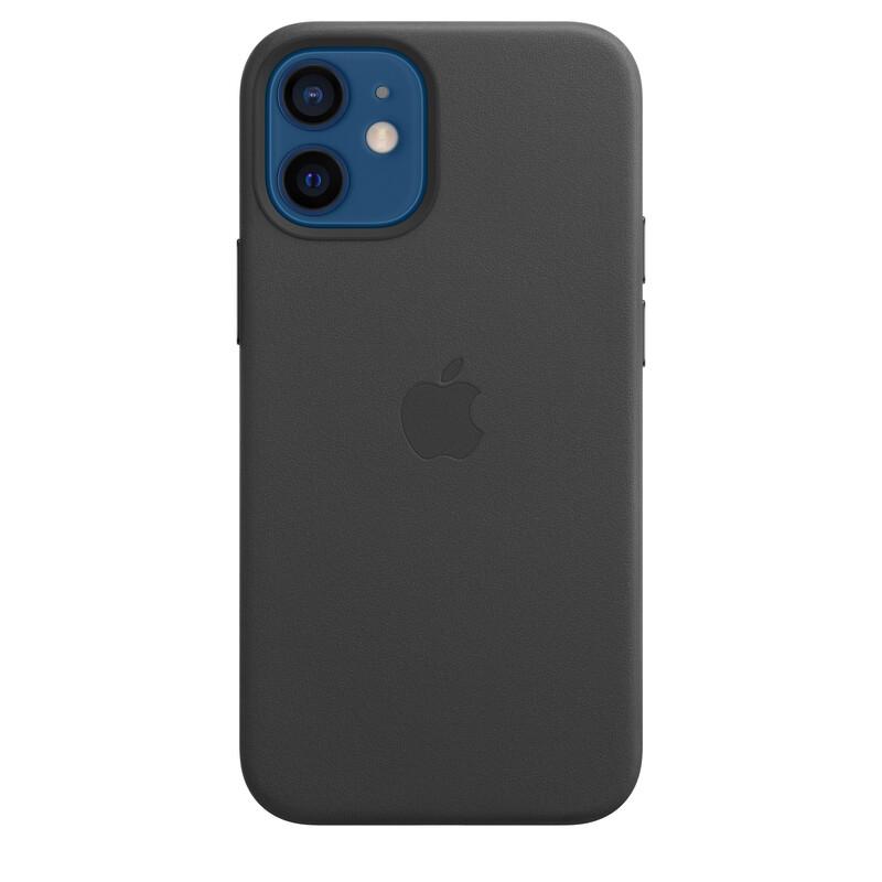 Apple iPhone 12 mini Leder Case mit MagSafe schwarz