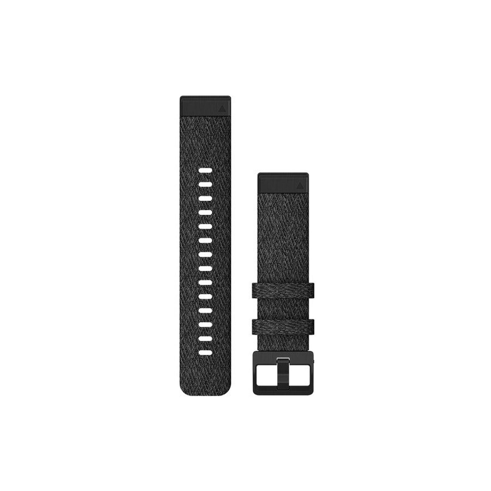 Garmin Quickfit Band 20mm Nylon schwarz meliert schwarz
