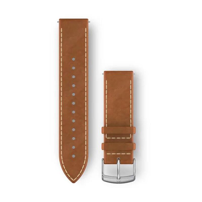 Garmin Uhrenarmband Vivoactive 20mm Leder Hellbraun