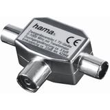 Hama Antennen-Verteiler, Koax-Kupplung 2 Koax Stecker