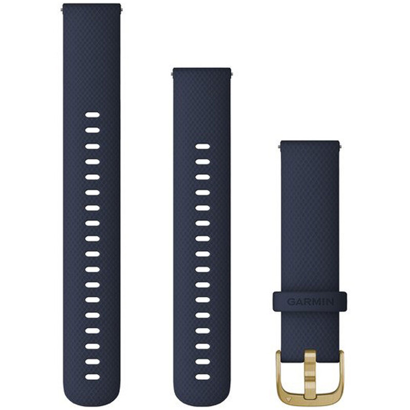 Garmin Band 18mm Silikon marineblau weißgold