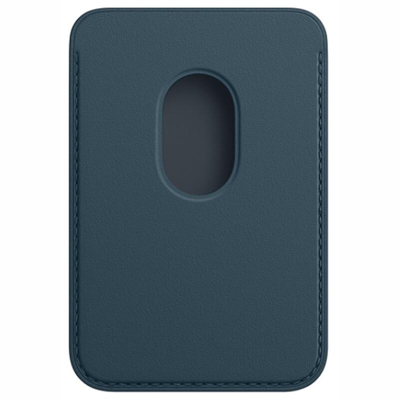 Apple iPhone Leder Wallet mit MagSafe baltischblau