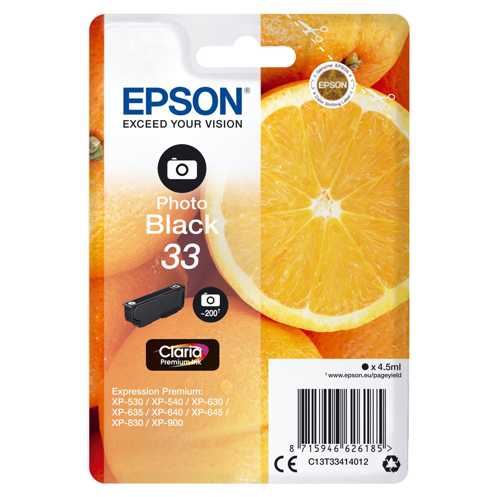 Epson 33 T3341 Tinte Photo Black 4,5ml
