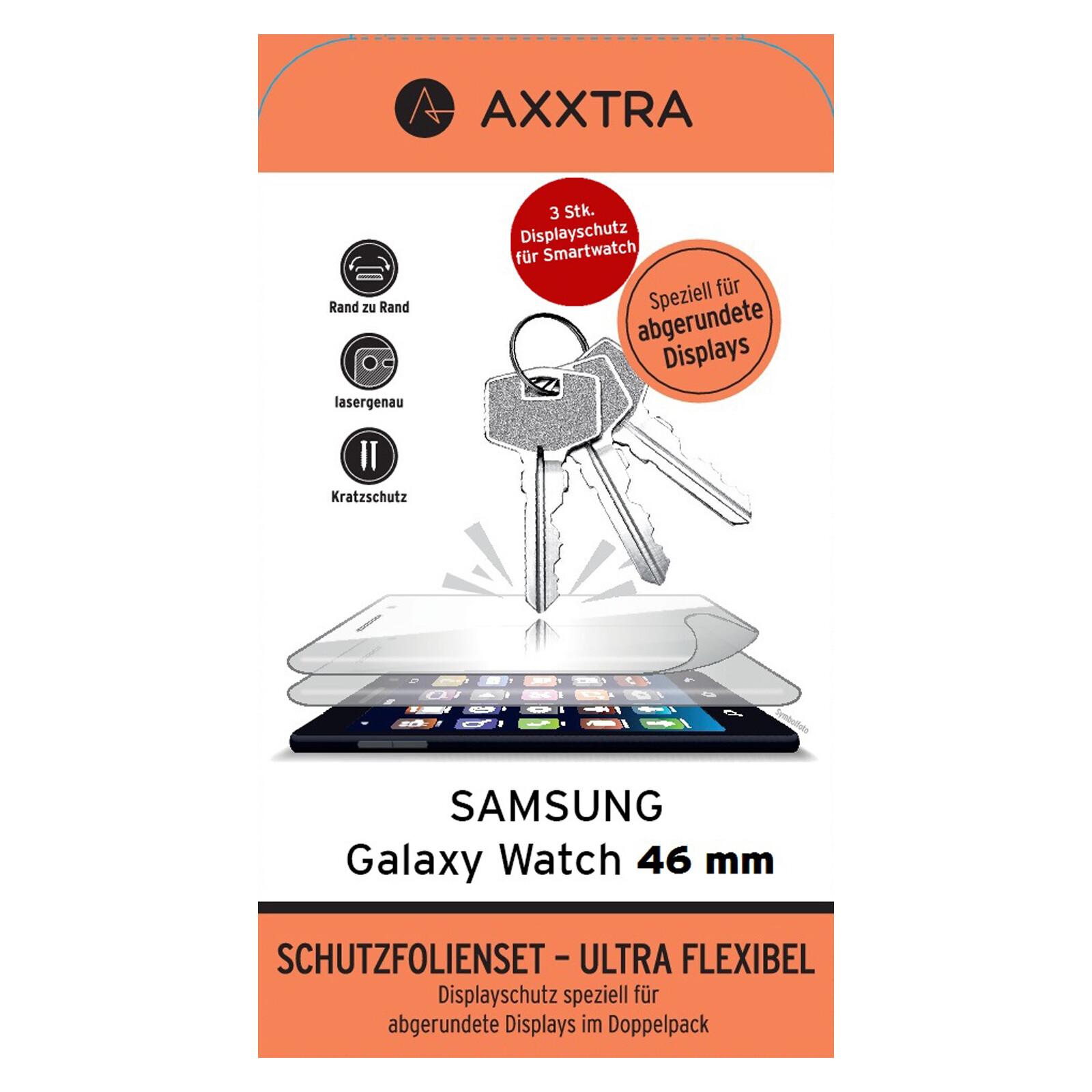Axxtra Hybrid Glas Sam Galaxy Watch 46mm 3 Stück