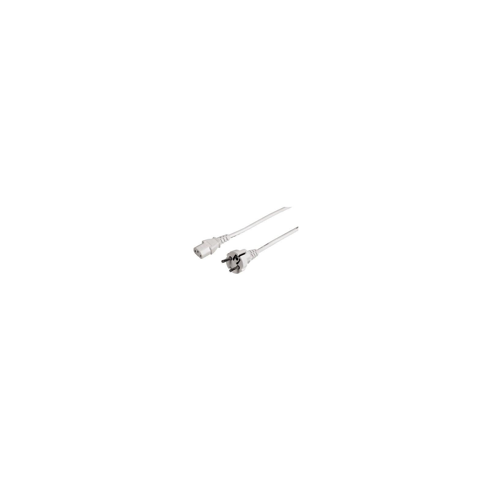 Hama 44242 Kaltgeräte-Zuleitung, 5 m, Weiß
