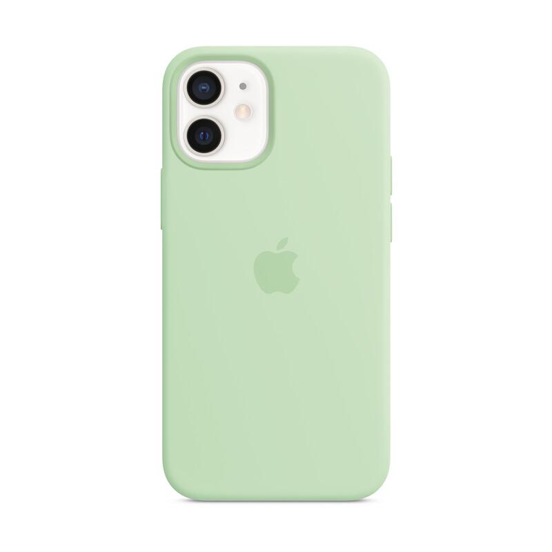 Apple iPhone 12 mini Silikon Case mit MagSafe pistazie