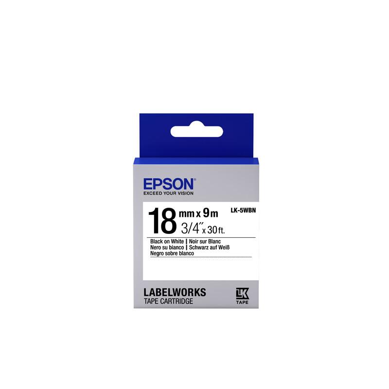 Epson S655006 Beschriftungsband 18mm Black/white