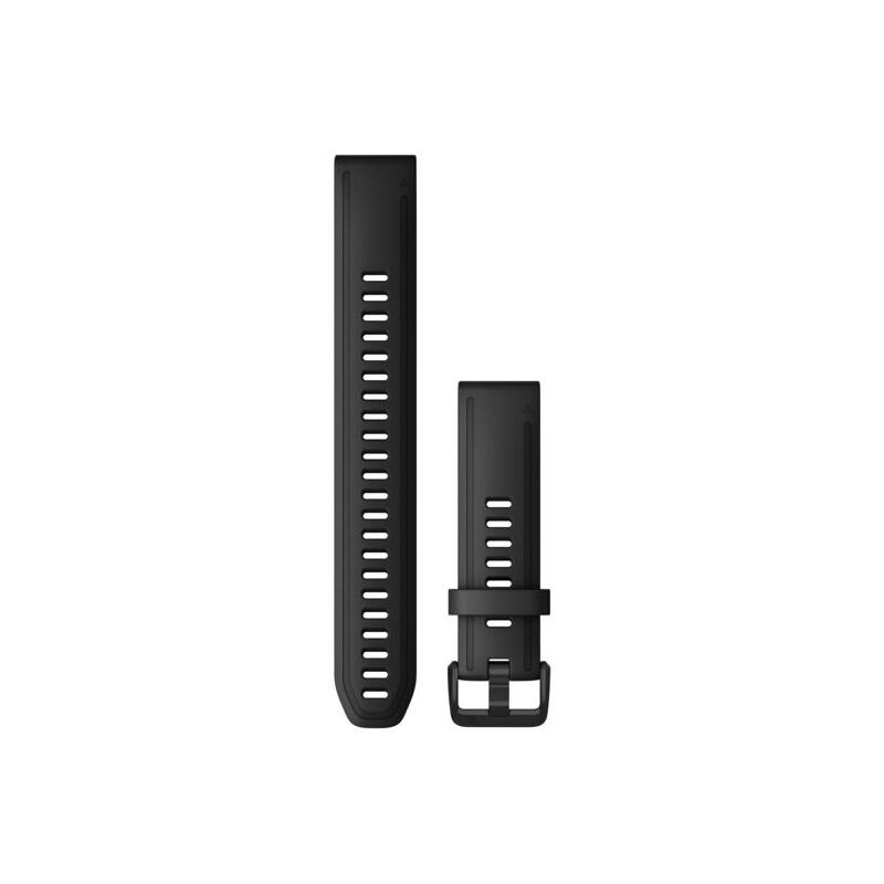 Garmin Quickfit Band 20mm L Silikon schwarz schwarz
