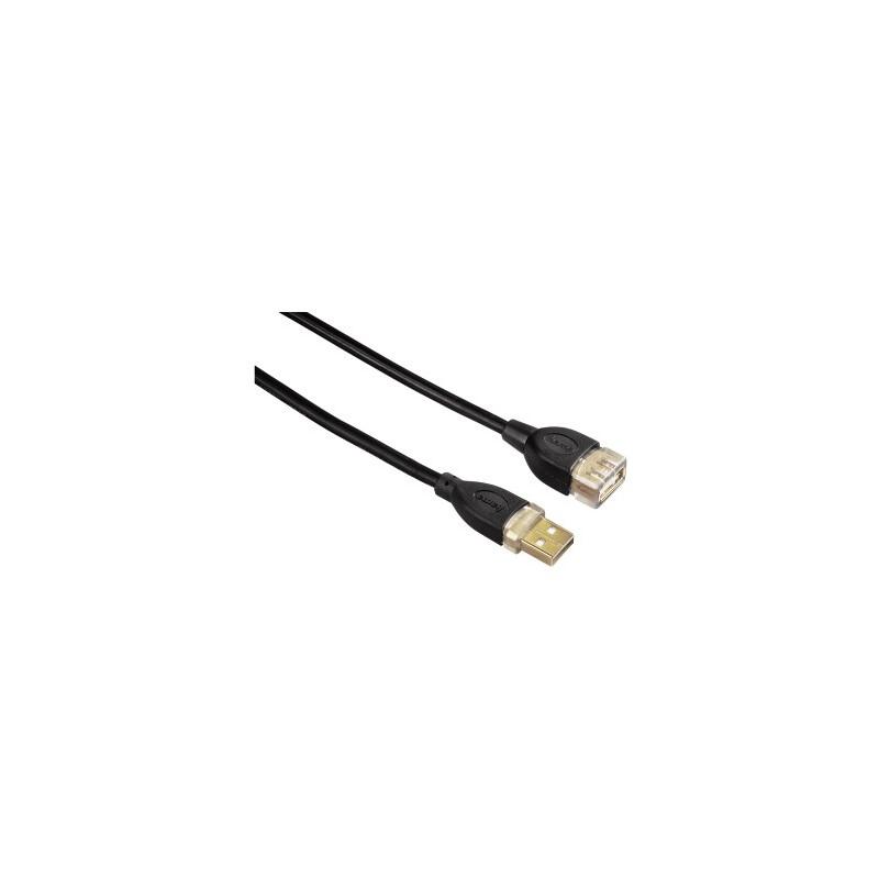 Hama 78449 USB-2.0-Verlängerungskabel, vergoldet, doppelt ge