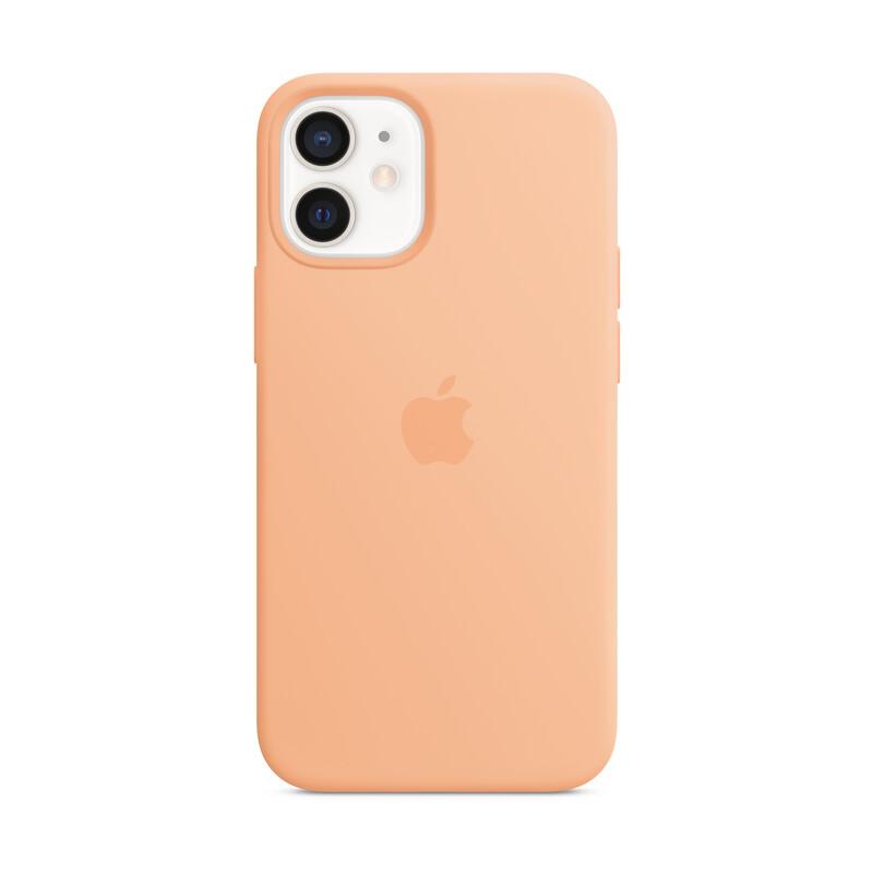 Apple iPhone 12 mini Silikon Case mit MagSafe cantaloupe