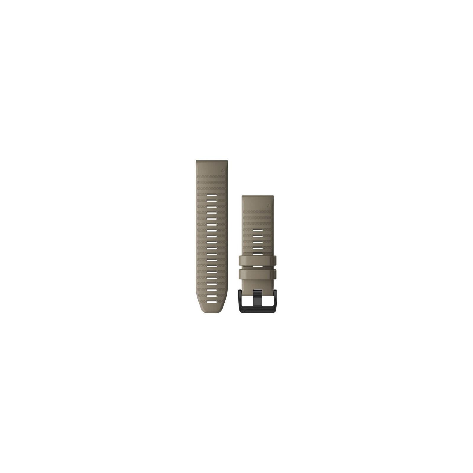Garmin Quickfit Band 26mm Silikon dunkelbeige schwarz